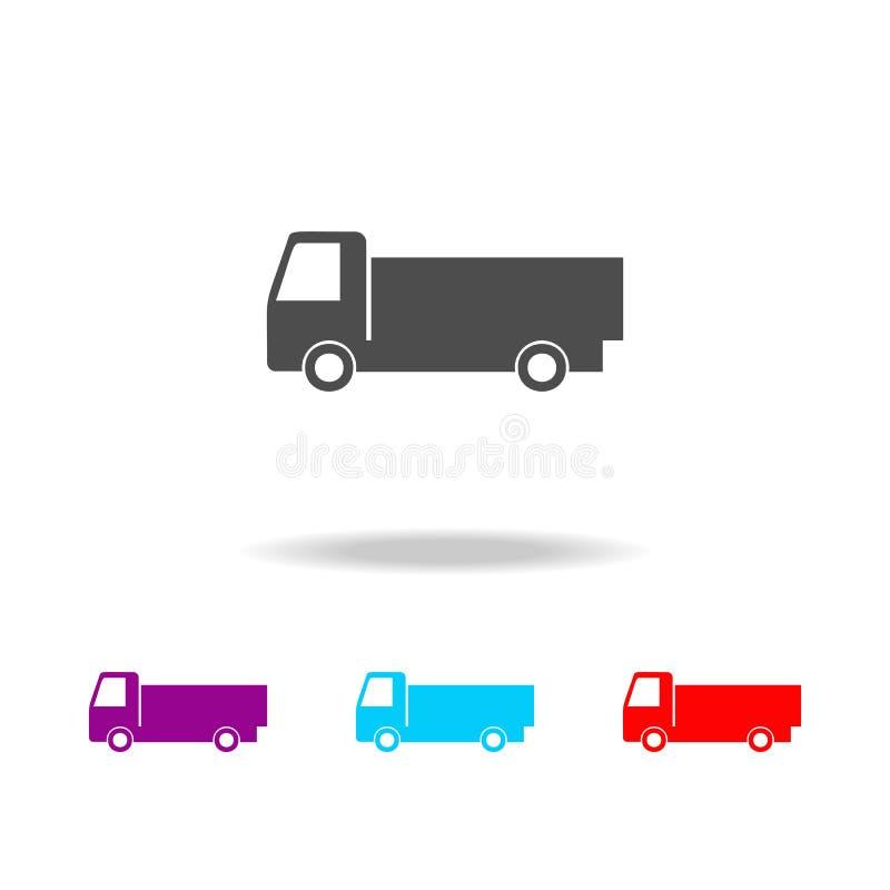 Fracht van icon Elemente von Autos in den multi farbigen Ikonen Erstklassige Qualitätsgrafikdesignikone Einfache Ikone für Websit vektor abbildung