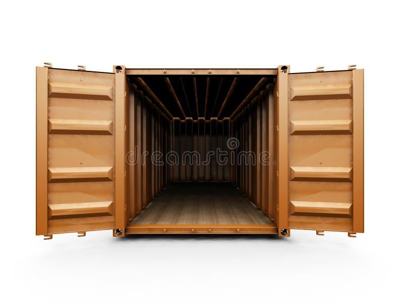 Frachtbehälter stock abbildung