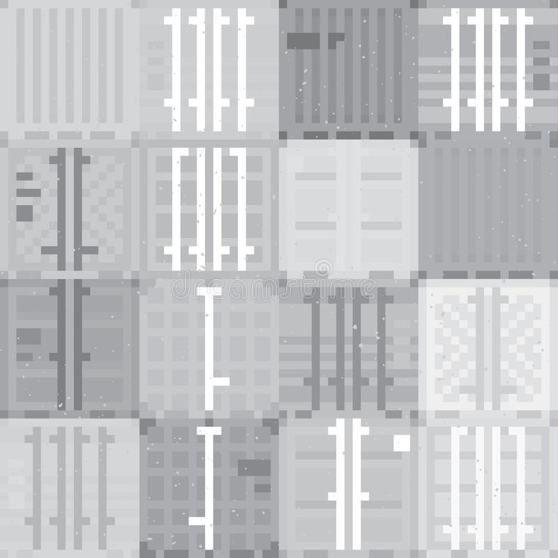 Frachtbehälter-Graumuster lizenzfreie abbildung