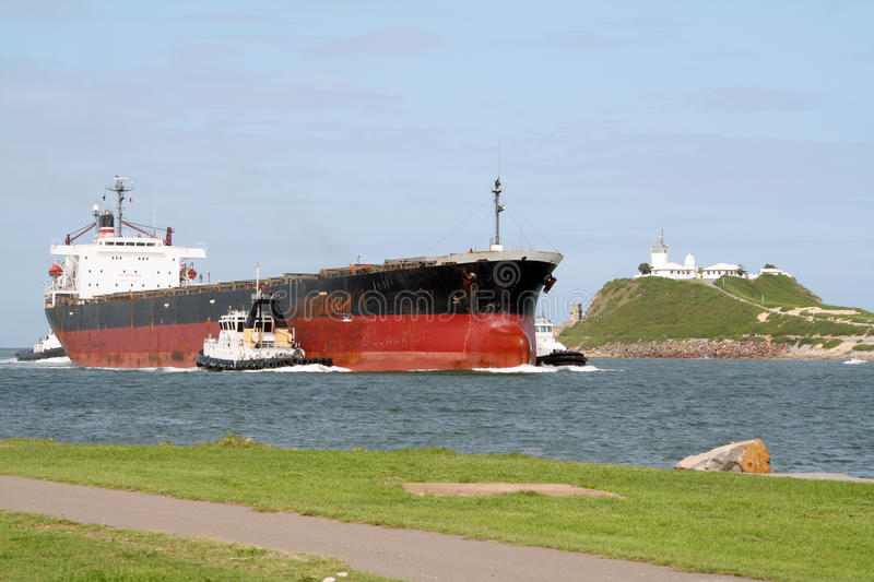 Frachterlieferung stockbild