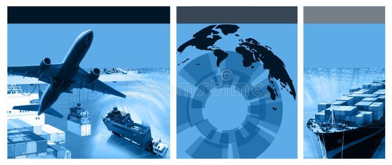 Frachtowy szablon ilustracji