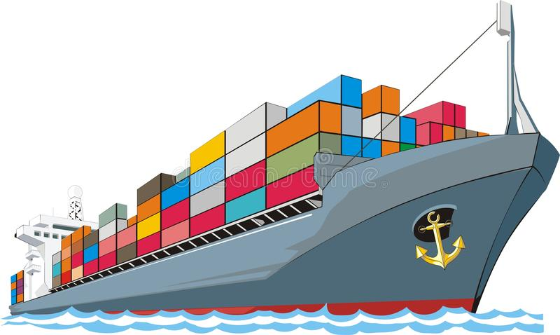 Frachtschiff vektor abbildung