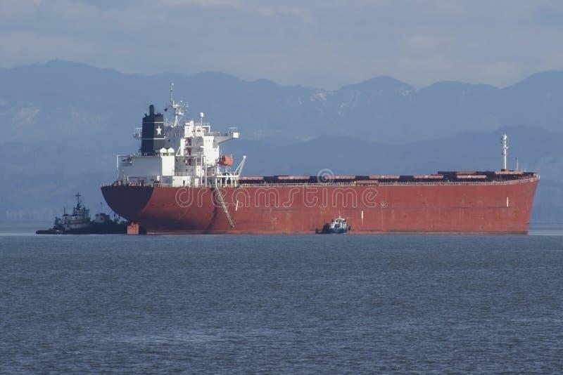 Frachtschiff-Ankommen