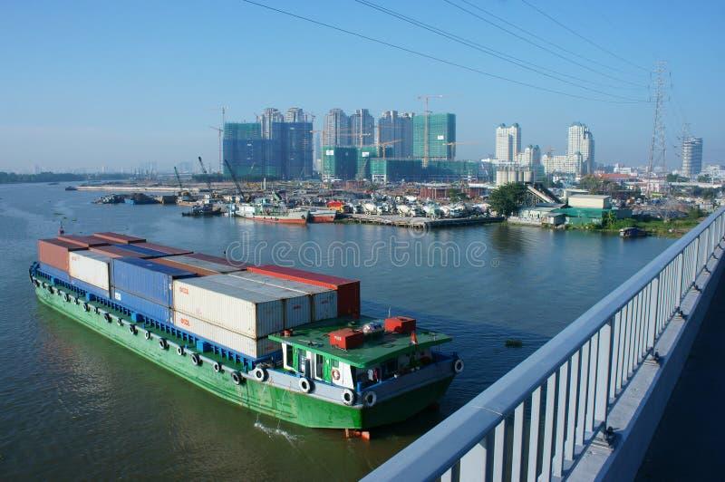 Frachtschiff, Versand, Logistik, Service, Ho Chi Minh Stadt stockfotografie