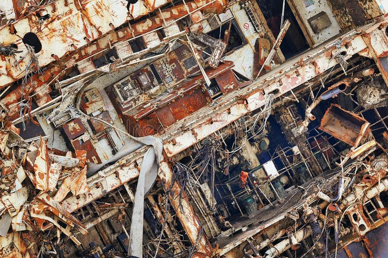 Frachtschiffwrack lizenzfreie stockbilder