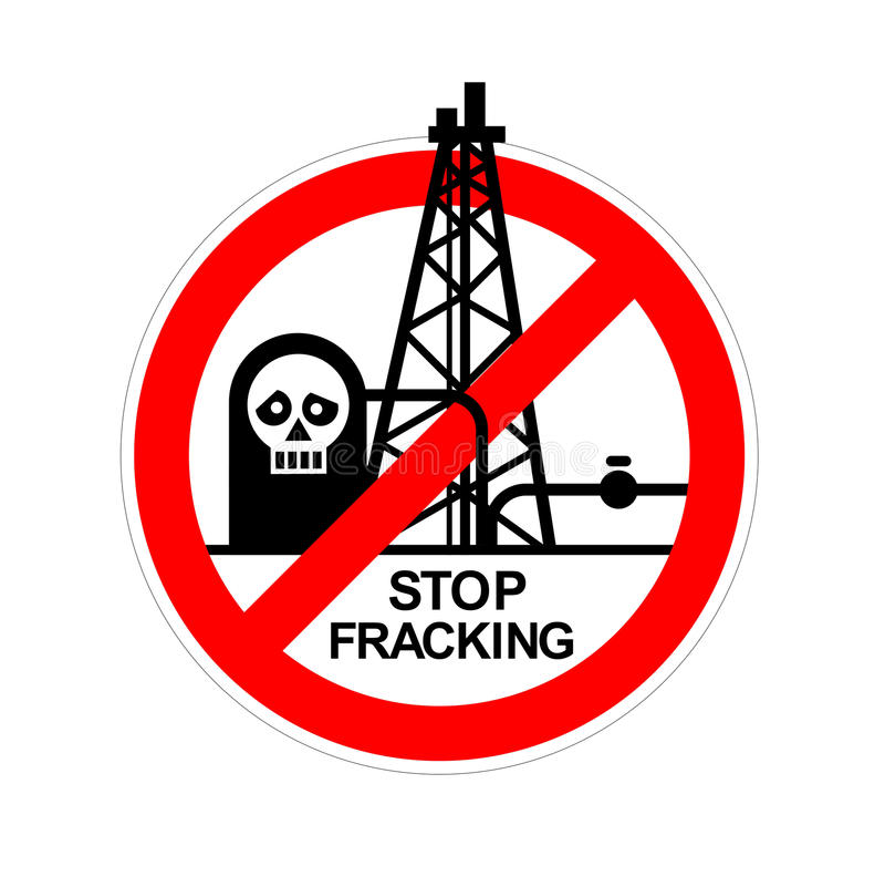 Fracking illustrazione di stock