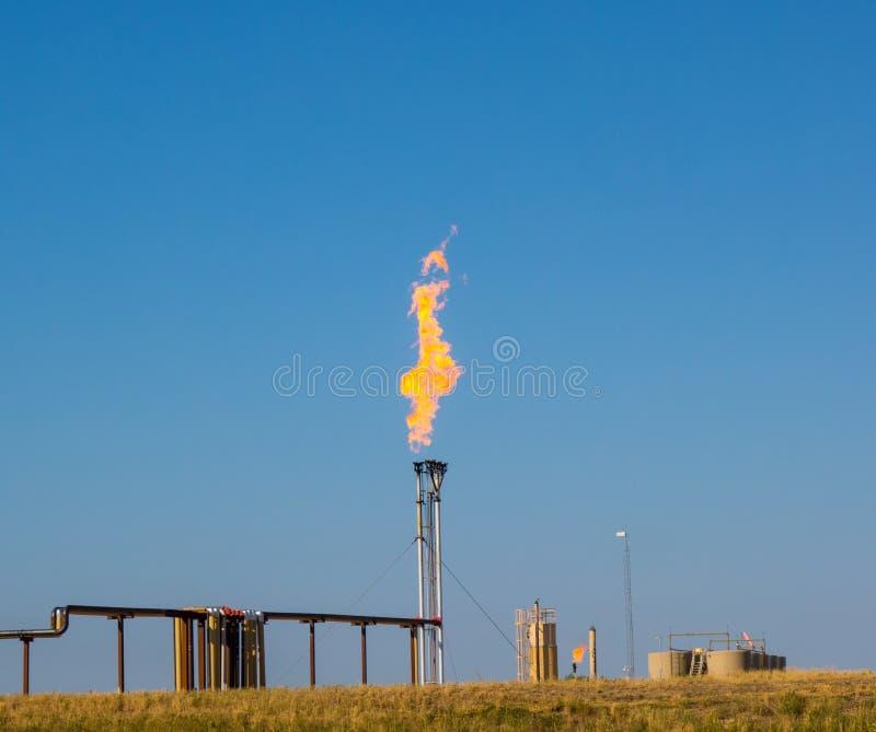 Fracking i North Dakota fotografering för bildbyråer