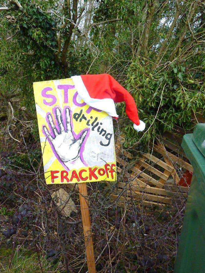 Fracking Tremblement de terre Crawley, le Sussex R-U photos libres de droits
