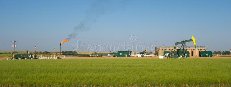 Fracking w północnym Dakota zdjęcie royalty free