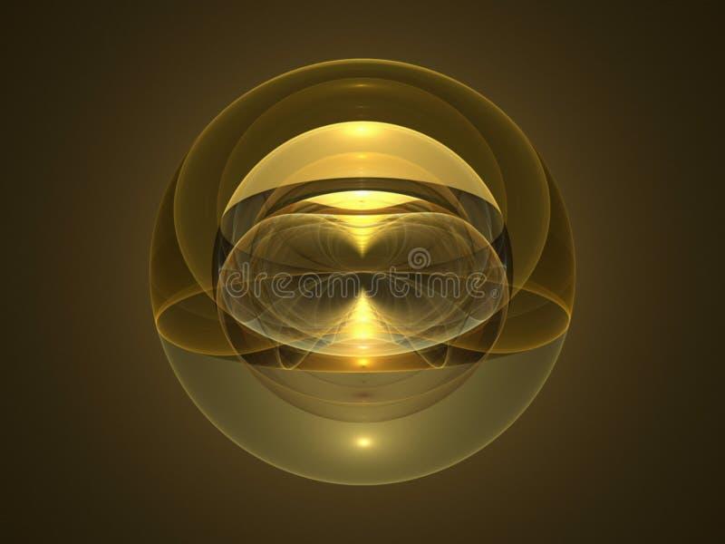 Fractal óptico 10 de la esfera del espacio del arte ilustración del vector