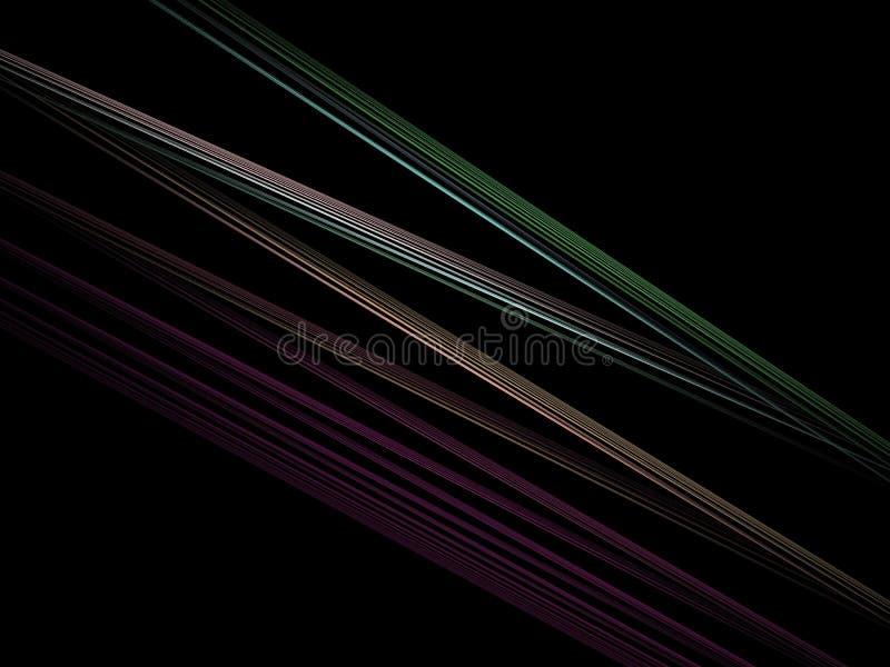 Fractal óptico 10 de los rayos ligeros del arte ilustración del vector