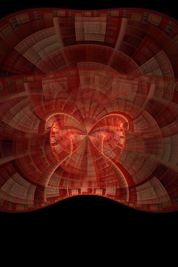 Fractal ótico 01 da flama da máscara da arte ilustração stock