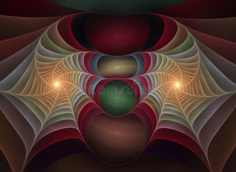 Fractal ótico 11 dos plásticos da arte ilustração do vetor