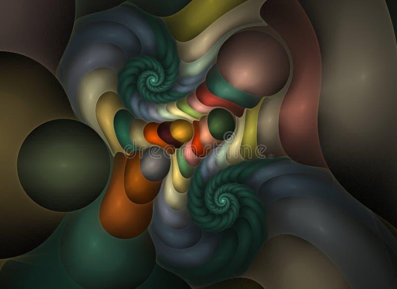 Fractal ótico 21 dos plásticos da arte ilustração stock