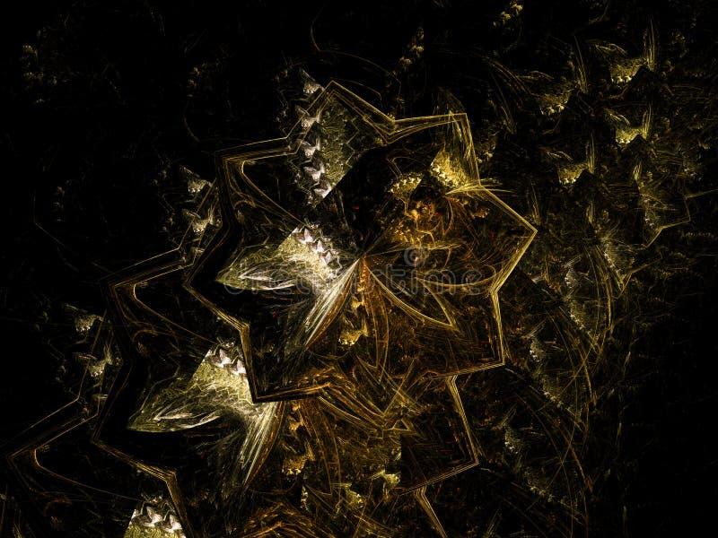 Fractal αφηρημένος χρώματος ελαφρύς εορτασμός υποβάθρου λουλουδιών δημιουργικός φανταστικός διανυσματική απεικόνιση