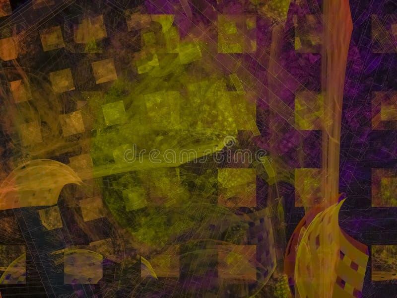 Fractal καλλιτεχνική ενθουσιώδης έννοια εικόνων χάους επίδρασης σύστασης υποβάθρου διανυσματική απεικόνιση