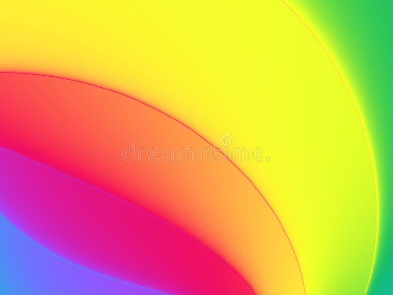 fractal καμπυλών ουράνιο τόξο διανυσματική απεικόνιση