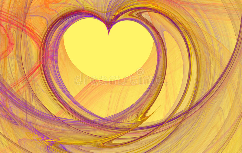 fractal καρδιά ελεύθερη απεικόνιση δικαιώματος