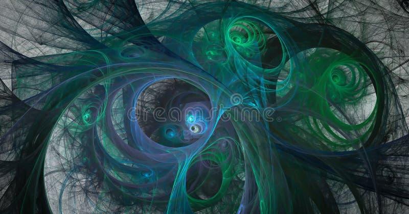 Fractal κόσμος φαντασίας διανυσματική απεικόνιση