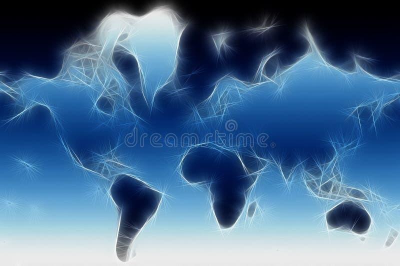 fractal κόσμος χαρτών διανυσματική απεικόνιση