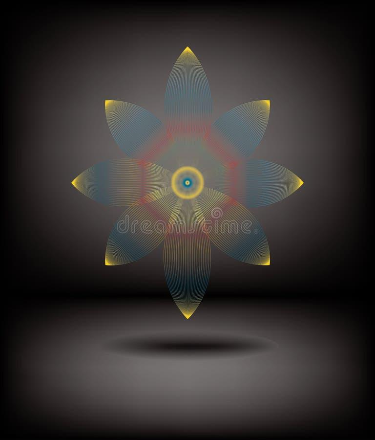 fractal λουλουδιών ανασκόπησ&e ελεύθερη απεικόνιση δικαιώματος