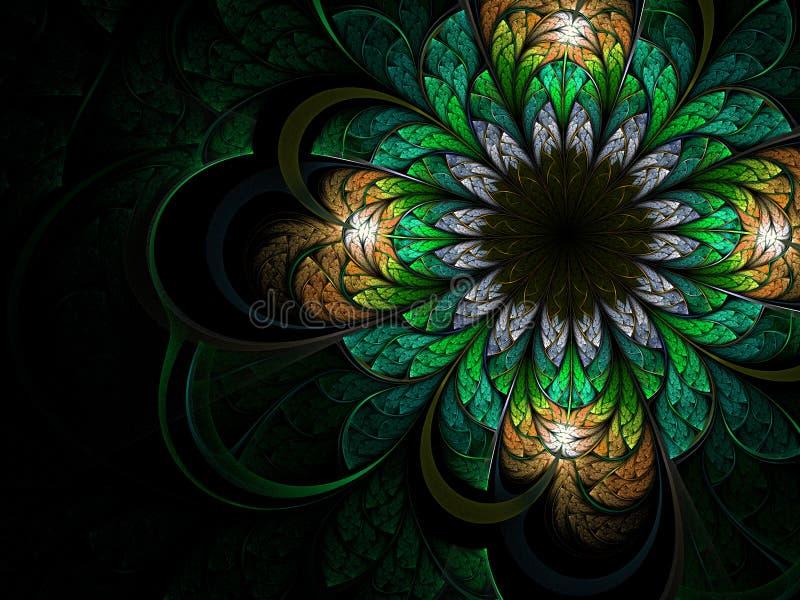 fractal λουλουδιών πράσινος &lambd απεικόνιση αποθεμάτων