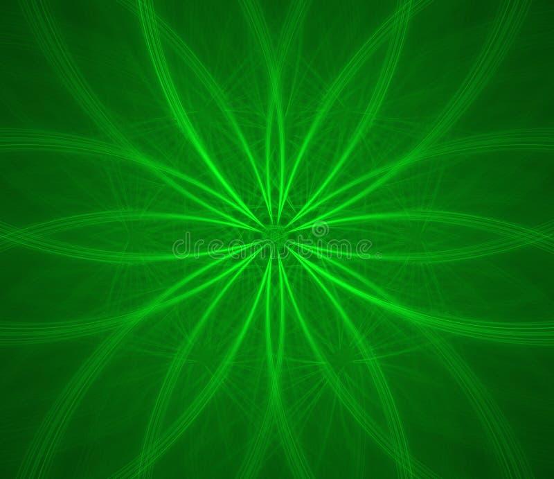 fractal λουλουδιών πράσινο απεικόνιση αποθεμάτων