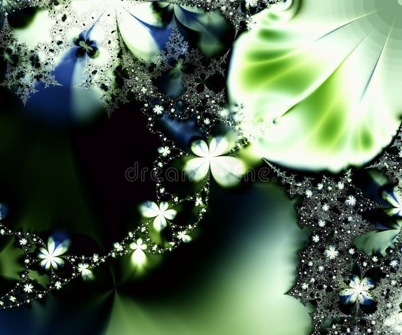 fractal μαργαριτών αλυσίδων διανυσματική απεικόνιση
