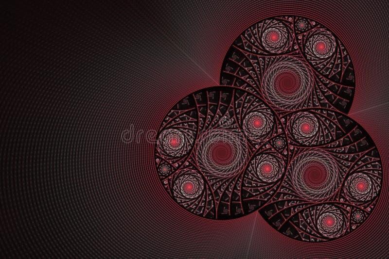Fractal με τις σπείρες και τα δαχτυλίδια απεικόνιση αποθεμάτων