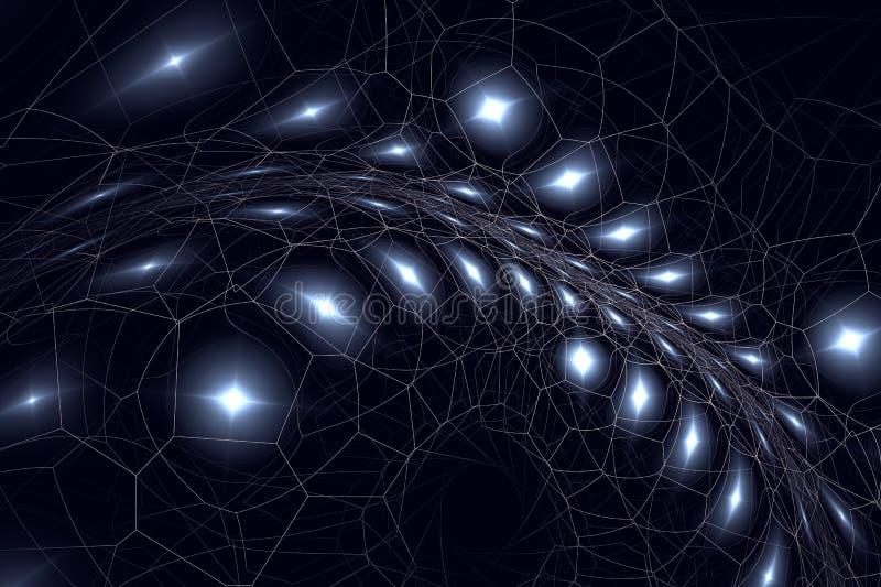 Fractal μοιάζει με το spiderweb διανυσματική απεικόνιση