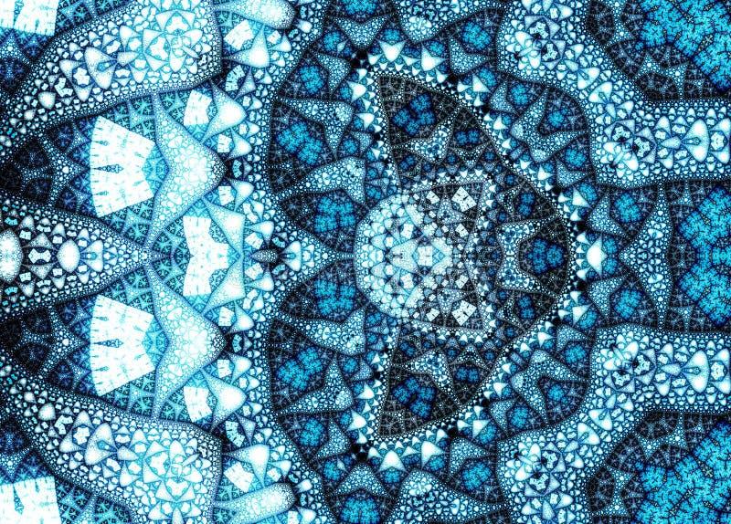 Fractal μπλε σχέδιο δομών (μπλε διακόσμηση) στοκ φωτογραφία με δικαίωμα ελεύθερης χρήσης