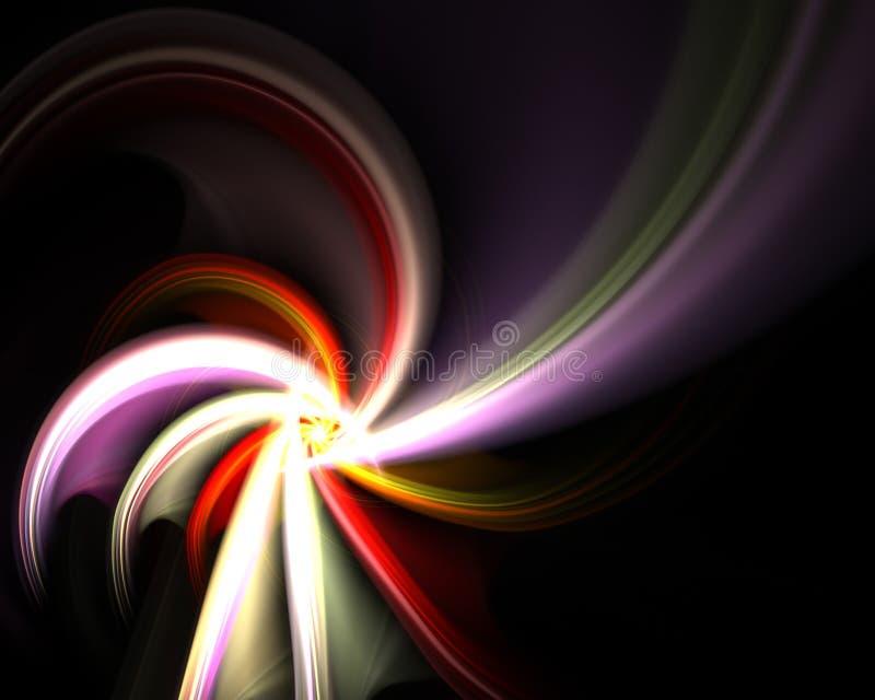 fractal περιστρεφόμενη σπείρα διανυσματική απεικόνιση