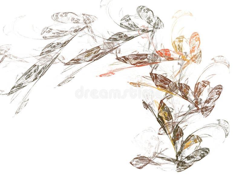 fractal πεταλούδων διανυσματική απεικόνιση