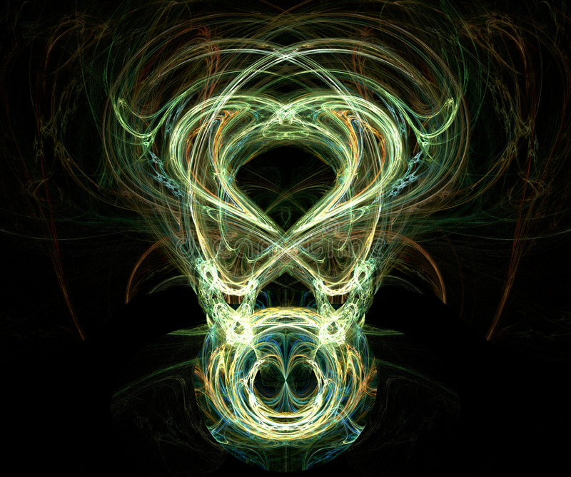 fractal προσώπου παρήγαγε scary διανυσματική απεικόνιση