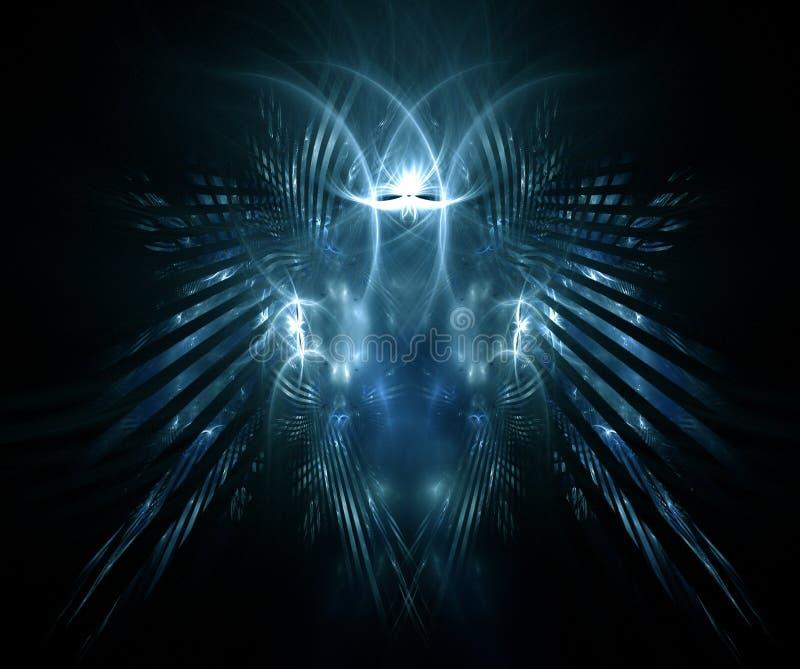 fractal προσώπου παρήγαγε scary ελεύθερη απεικόνιση δικαιώματος