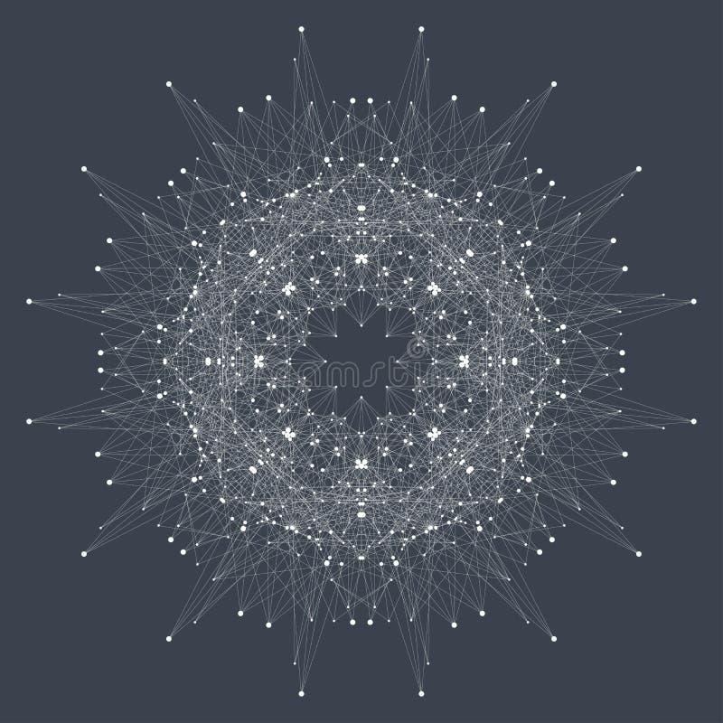 Fractal στοιχείο με τις γραμμές και τα σημεία ενώσεων Μεγάλα στοιχεία σύνθετα απεικόνιση αποθεμάτων