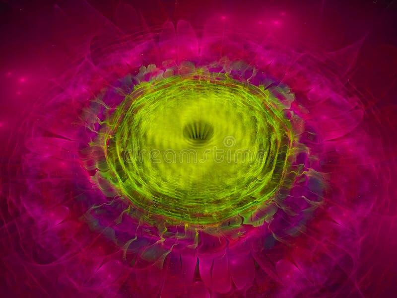 Fractal στριμμένη εικόνα έννοια επίδρασης υποβάθρου ενθουσιώδης διανυσματική απεικόνιση