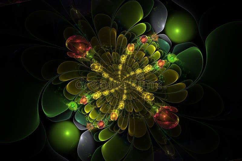 Fractal σφαίρες λουλουδιών διανυσματική απεικόνιση