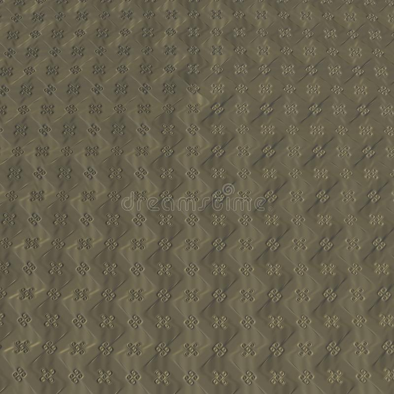 Fractal τέσσερα σχέδιο τριφυλλιού φύλλων ελεύθερη απεικόνιση δικαιώματος
