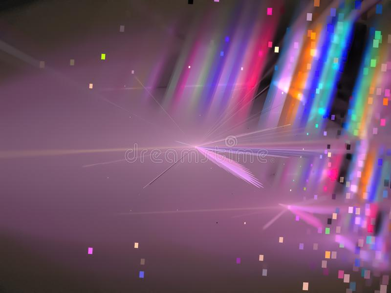 Fractal το αφηρημένο χρώμα στροβίλου, λάμπει φλόγα, δημιουργικό σχέδιο, χάος disco διανυσματική απεικόνιση