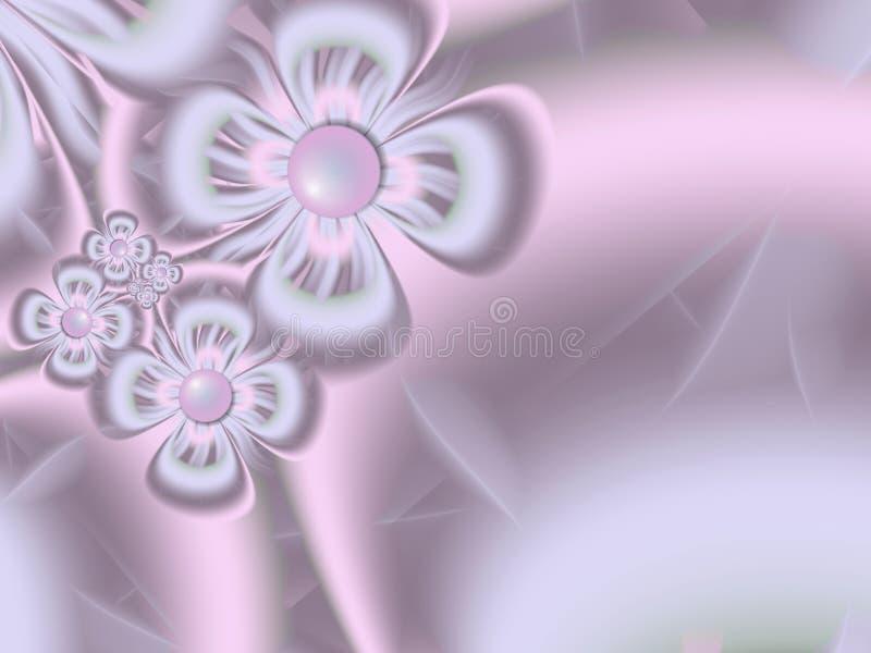 Fractal φαντασίας εικόνα, αρχικό πρότυπο για την παρεμβολή του κειμένου Πορφυρά λουλούδια φαντασίας διανυσματική απεικόνιση