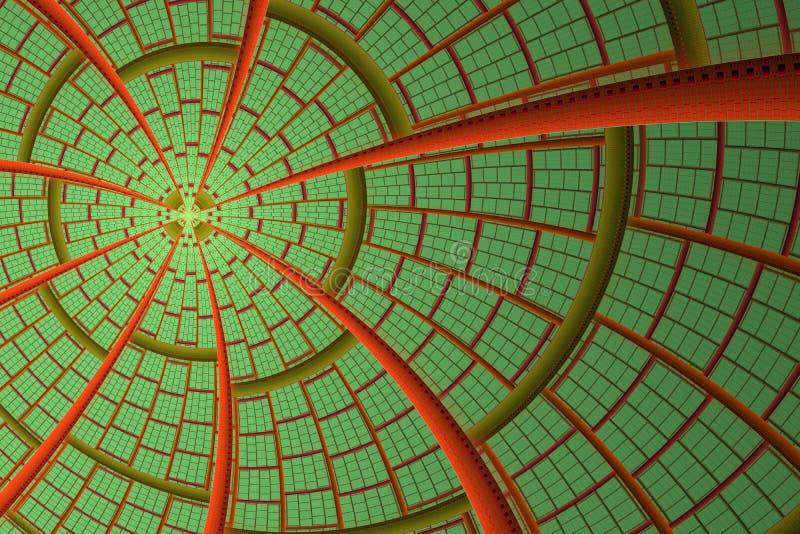Fractal φαντασία αστεριών ή ήλιων Αφηρημένο ηλιακό σχέδιο Καινοτομία, έννοια τεχνολογίας απεικόνιση αποθεμάτων