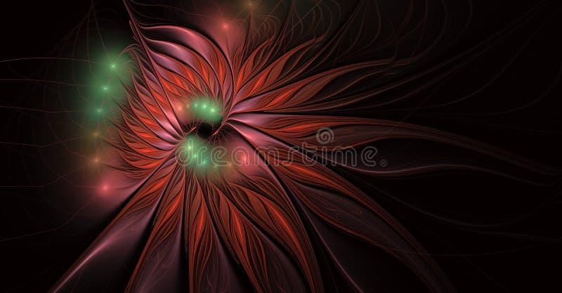 Fractal φαντασία και καλλιτεχνικό λουλούδι Όμορφο λαμπρό φουτουριστικό υπόβαθρο ελεύθερη απεικόνιση δικαιώματος