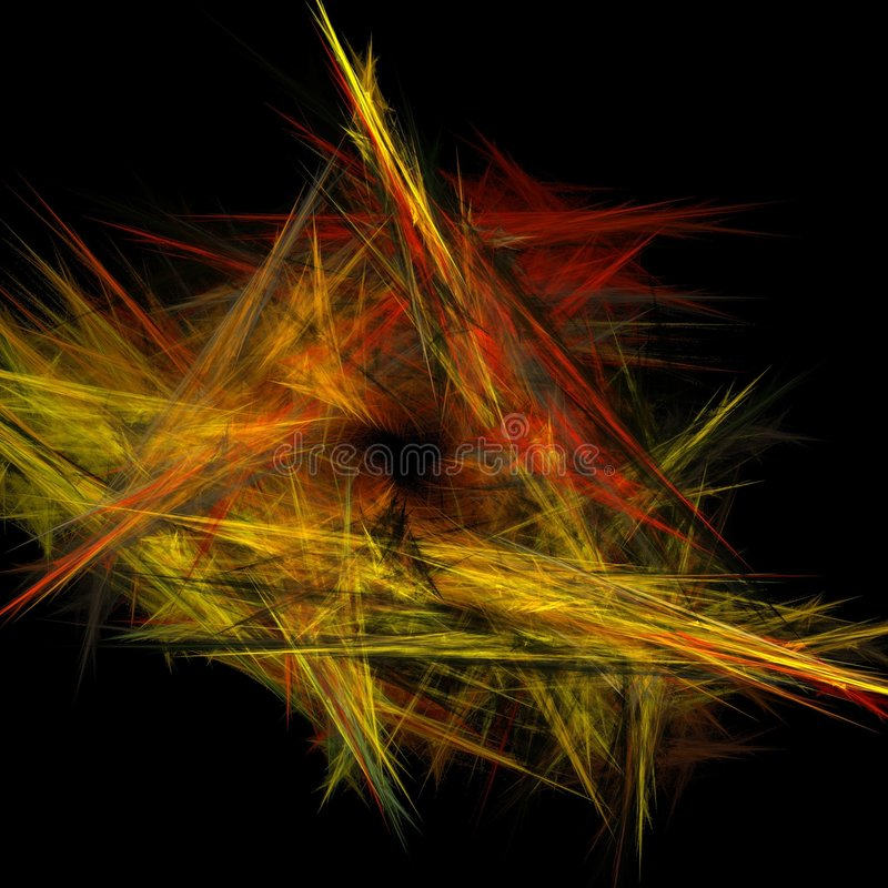 fractal φλογών στοκ φωτογραφία