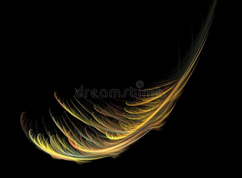 Fractal φτερών πέρα από το Μαύρο ελεύθερη απεικόνιση δικαιώματος