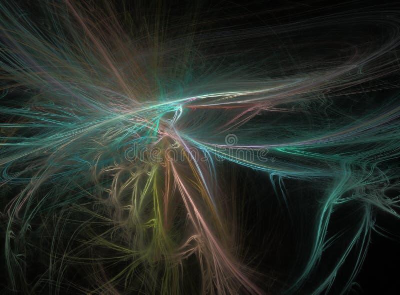 Fractal φωτισμού στο Μαύρο στοκ φωτογραφία