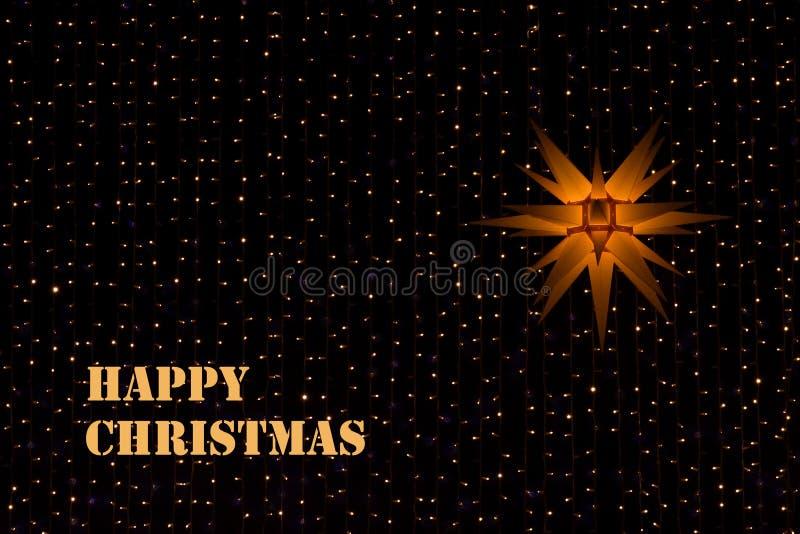 fractal Χριστουγέννων αστέρι νύχτας εικόνας στοκ εικόνες με δικαίωμα ελεύθερης χρήσης