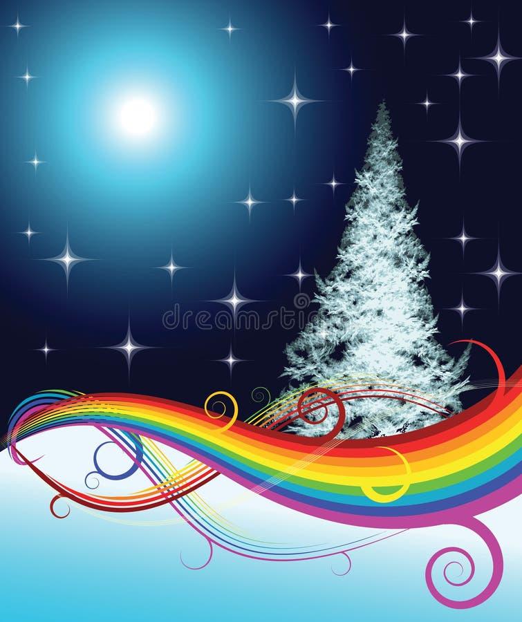 fractal Χριστουγέννων δέντρο απεικόνιση αποθεμάτων