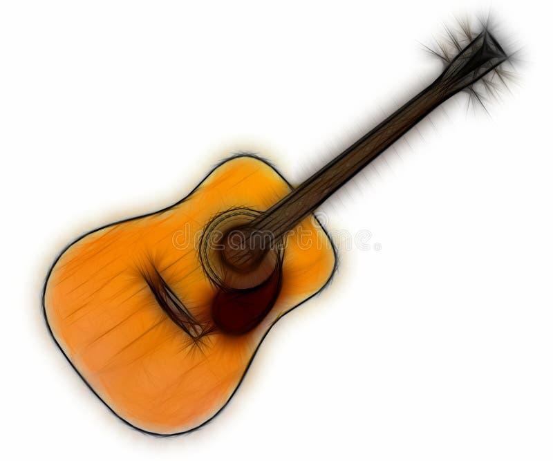 Fractal 10 de la guitarra stock de ilustración