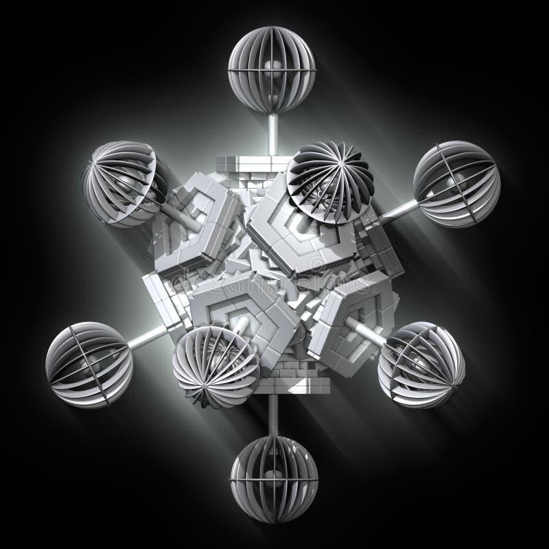 Fractal 3D geométrico ilustração do vetor